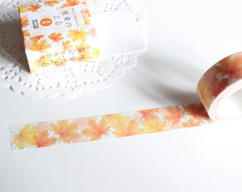 Maple Leaves Washi Tape, Autumn Fall Decorative Tape, Autumn Stickers, Halloween Washi Tape (NT-172)