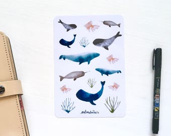 Ocean love watercolor stickers