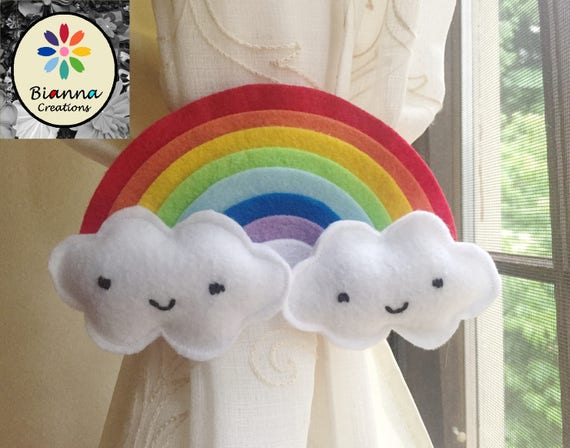 8x4 kawaii rainbow felt curtain tieback nursery room for 8x4 bathroom designs