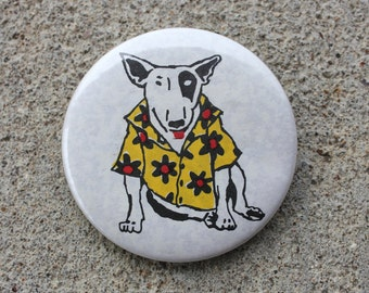 Vintage Spuds Mackenzie Hawaiian Shirt Button
