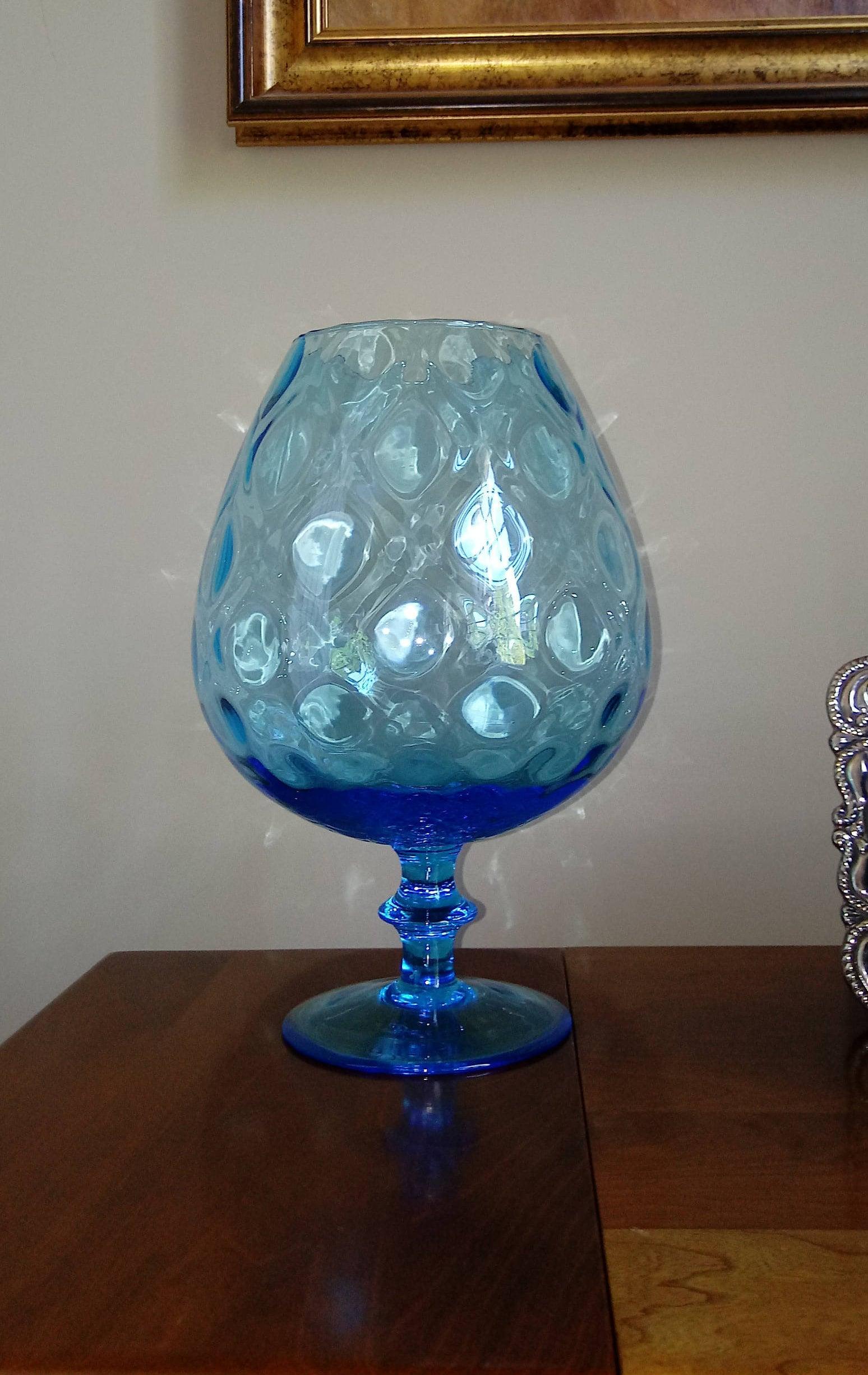 Vintage large blue glass brandy snifter aqua blue vase seaside gallery photo gallery photo gallery photo gallery photo gallery photo reviewsmspy