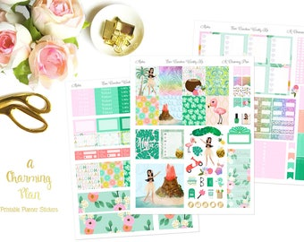 Aloha - Printable Planner Stickers - Instant Download