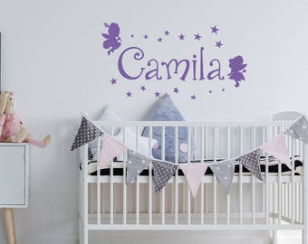 Fairy Name Wall Decal   Girls Name Wall Decal Fairy Decor, Little Girl Wall  Decals Part 91