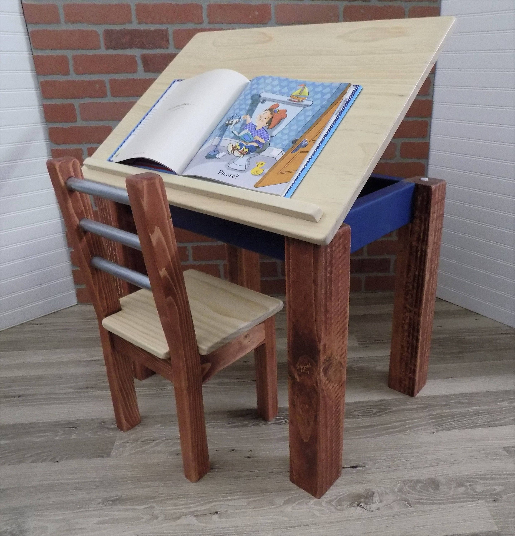Beautiful Kids Desk / Kids Table / Art Desk / Easel / Kids Drafting Table / Table And  Chairs Set / Homework Desk / Handmade
