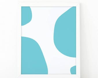 Circles blue print, minimalist wall art, nursery print, abstract print, kids room decor, printable art, blue wall art print, shooshprints