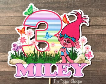 TROLLS PRINCESS POPPY Customized Cake Topper / Centerpiece / Birthday Party Supplies / Decorations