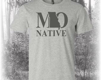 Missouri Native Shirt, Native Missouri Shirt, Missouri Shirt, MO Shirt, Missouri State Shirt
