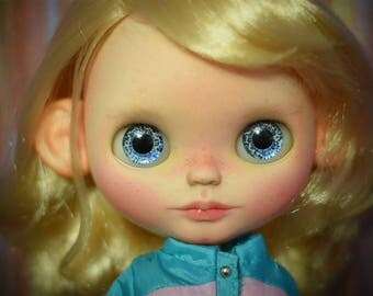 Custom Blythe ooak doll (Takara) Silver Snow