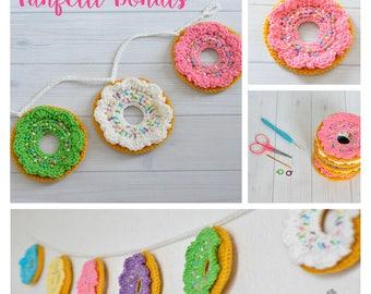 Funfetti Crochet Donuts Garland