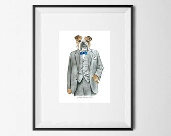 English bulldog, bulldog print, Winston Churchill, bulldog gift, english print, bulldog owner, bulldog decor, english bullog art, dog print