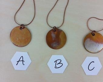 Necklace: Dragonsbreath on Copper Round