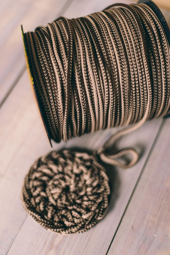 MIXED BROWN yarn, macrame cord, craft supplies, diy projects, colored rope, chunky yarn, craft yarn, rope cord #4/8 macrame rope 218 yards