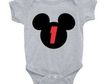 Mickey Mouse Birthday Number tee