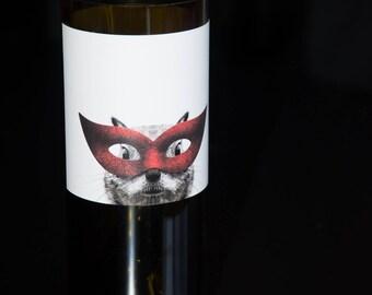 Whimsical Label Wine Bottle Vases - Recycled Wine Bottles