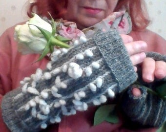 Gloves without Fingers / Mitts Transformer / Ladies' Winter Mitts