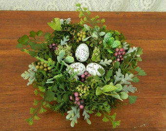 Bird Nest Decoration, Bird Nest  Eggs, Spring Floral Arrangement,  Spring Flower Arrangement, Bird Nest, Shower, Wedding, Table Arrangement