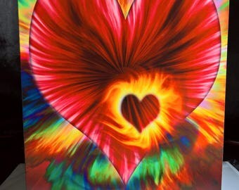 Abstract Valentines Day - Greeting Card