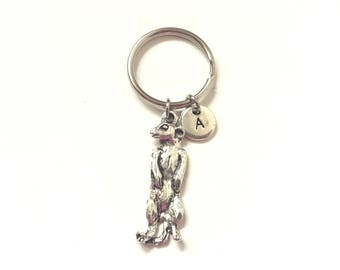 Meerkat Keyring, Meerkat Keychain, Meerkat Key Ring, Meerkat Charm Personalized Keychain, Custom Keychain, Charm Keychain (K68)