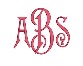 Carson Monogram Embroidery Font 5 Size Font Machine Embroidery Font Instant Download 9 Formats Embroidery Pattern PES and BX