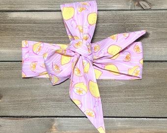 Citrus Splash Headwrap- Headwrap Lemon  Head Wrap Baby Head Wrap Baby Headwrap Head Wrap Big Bow Headwrap Girls Headwrap Toddler Headwrap