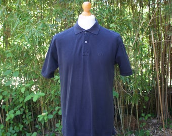Vintage Christian Dior Navy Blue Polo Shirt - Size Large
