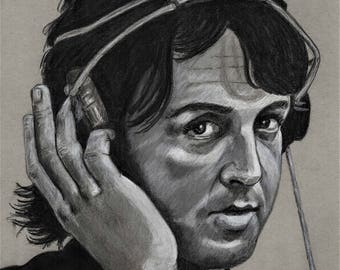 Original Art Print - Paul McCartney, Beatles, Wings, T.A. Schmitt, Artist