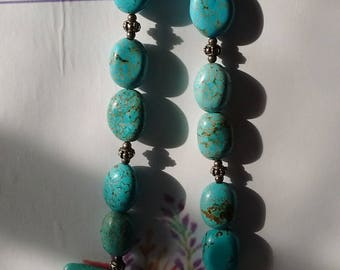 TURQUOISE NECKLACE-  9 inch length.