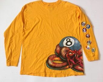 Vintage JNCO long sleeve snake and pool balls shirt