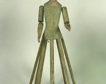 Carved Wood Mannequin Cage doll - Bastidor