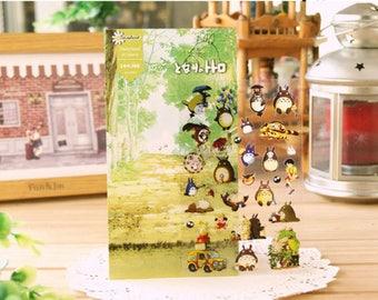 Totoro Japanese Stickers,Cute Sticker, Decorative Stickers,Planner Stickers,Japanese Stickers,Kawaii Stickers