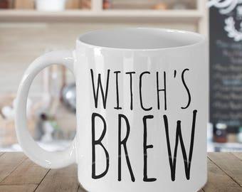 Halloween Mug - Witch Mug - Witches Brew Coffee Mug - Gifts for Witches - Witch's Brew - Witches Brew Tea Cup - Halloween Decor