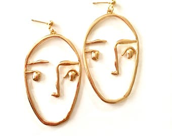 No Mouth Face Earrings