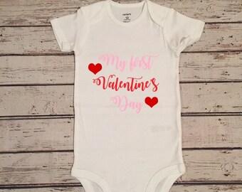 My first Valentine's Day baby girl, my first Valentine's Day shirt,newborn Valentine's Day,Valentine's Day onesie, baby girl Valentine's Day