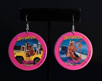 90's Vintage Barbie Pog Earrings