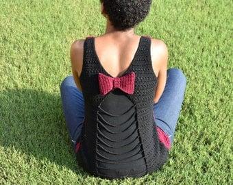 Peek-A-Bow Tank Top Crochet Pattern | Mommy and Me Tank Top