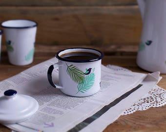 Gift for her, wedding gift, rustic gift idea, housewarming gift, retro wedding gift, vintage gift, wedding mug, enamel mug, 1 x mug SPRING