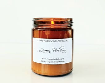 LEMON VERBENA | Soy Candle | Scented Candle | Amber Apothecary | Candles | Kitchen Candle | Citrus Candle | Lemon Candle | Verbena