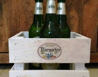 Beer garden, gifts for men, men gift, wooden crate beer, gift box, bottle rack, birthday box, crate, beer gift