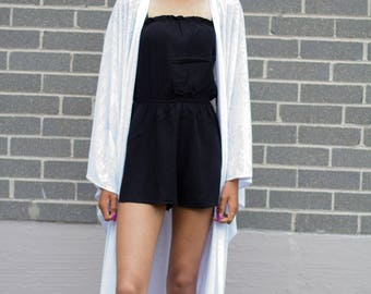 The Daphne Kimono. Burnout Kimono. Longline Kimono. Women's clothing. Cut and sew.