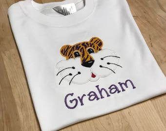 Boy Tiger Shirt (purple/gold)
