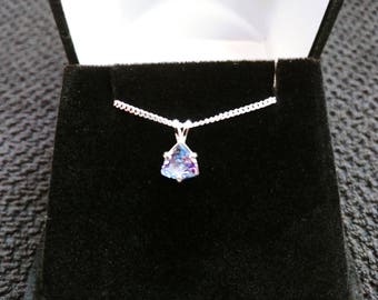 Tanzanite Gemstone Solid Sterling Silver Necklace