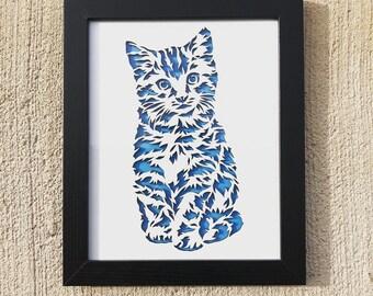 3D Stencil | Kitten