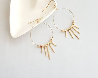 Boho Dangle Earrings,Tribal Dangle Earrings,Gold Hoop Dangle Earrings,Boho Earrings,Tribal Earrings,Gold Tribal Earring,Antique Hoop Earring