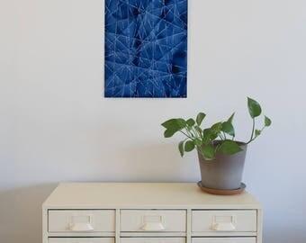 "Geometric Blue XI Original Painting, 14-1/8"" x 20"""