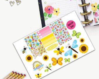 Spring Theme One Day Small Planner Sticker Set, All Happy Planner Stickers, Stickers, Printed, Cut, Functional Sticker, Any Planner, Holiday