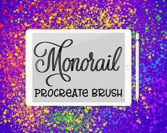 Monorail lettering brush for Procreate