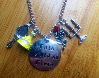 Beauty and the beast necklace tale as old as time
