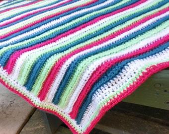 watermelon baby blanket crochet pattern