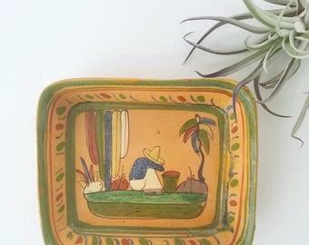 Vintage Mexican Rustic Tlaquepaque Tray/Dish