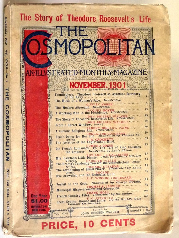 The Cosmopolitan: An Illustrated Monthly Magazine Vol. XXXII, No. 1, November, 1901 - Antique